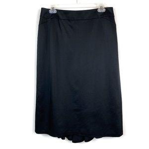 Ann Taylor Black Wool Blend A-Line Gored Skirt 10
